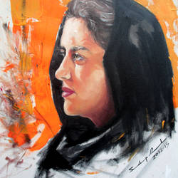 beautiful lady with brown eyes, 16 x 22 inch, sandeep rawal ,16x22inch,canvas,paintings,portrait paintings,portraiture,realistic paintings,paintings for hotel,paintings for kitchen,acrylic color,GAL0251142794