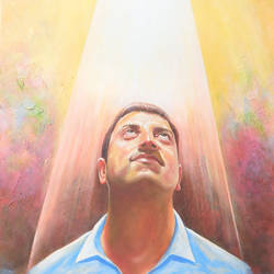 faith in god, 22 x 26 inch, sandeep rawal ,22x26inch,canvas,paintings,portrait paintings,portraiture,realistic paintings,paintings for office,acrylic color,GAL0251142796