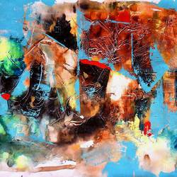 abstract untitled, 34 x 24 inch, sandeep rawal ,34x24inch,canvas,paintings,abstract paintings,paintings for living room,acrylic color,GAL0251142834