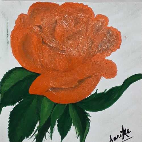rose, 9 x 10 inch, sarika kewalramani.nathani,9x10inch,canvas,paintings,flower paintings,acrylic color,GAL02047342896