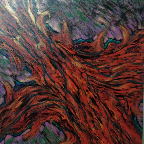 fire, 20 x 20 inch, shubhra mandal,20x20inch,canvas,paintings,abstract paintings,paintings for living room,paintings for office,paintings for kitchen,acrylic color,GAL03059742903
