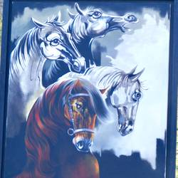 garv, 40 x 50 inch, ani bhanot,40x50inch,canvas,paintings,wildlife paintings,animal paintings,horse paintings,paintings for dining room,paintings for living room,paintings for bedroom,paintings for office,paintings for hotel,acrylic color,oil color,GAL02307442926