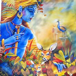 khumar, 32 x 52 inch, ani bhanot,32x52inch,canvas,paintings,religious paintings,radha krishna paintings,love paintings,paintings for dining room,paintings for bedroom,paintings for hotel,paintings for school,paintings for hospital,acrylic color,oil color,GAL02307442927