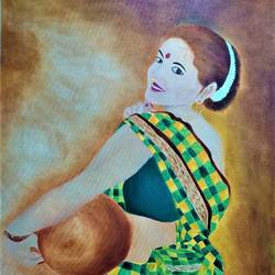 portait painting, 24 x 33 inch, bhumika kumawat,24x33inch,canvas,paintings,figurative paintings,folk art paintings,modern art paintings,portrait paintings,art deco paintings,expressionism paintings,portraiture,realism paintings,street art,contemporary paintings,realistic paintings,paintings for dining room,paintings for living room,paintings for bedroom,paintings for office,paintings for bathroom,paintings for kids room,paintings for hotel,paintings for kitchen,paintings for school,paintings for hospital,oil color,GAL02800142950