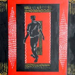 the walker, 9 x 12 inch, kankana  pal,abstract paintings,paintings for living room,vertical,paper,mixed media,9x12inch,GAL08334297