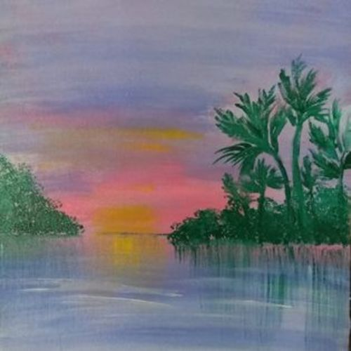 serene, 10 x 12 inch, swapna devireddy,10x12inch,canvas,paintings,abstract paintings,landscape paintings,paintings for living room,paintings for bedroom,paintings for bathroom,acrylic color,GAL03063842974