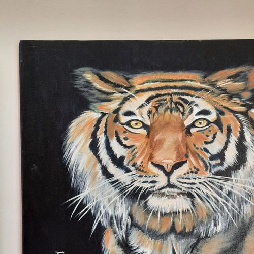 wild life ,tiger, 20 x 24 inch, sangeetha oduvil,20x24inch,canvas,paintings,wildlife paintings,oil color,GAL03067943014