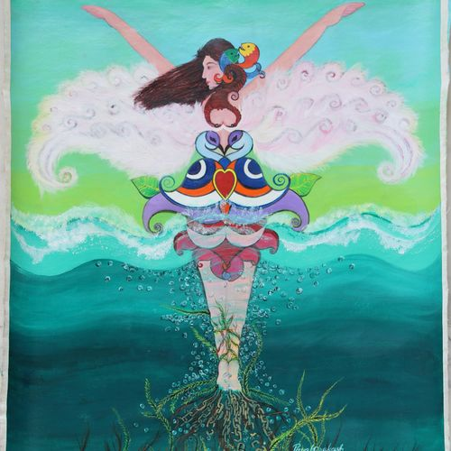freedom to fly , 21 x 26 inch, payal prakash ,21x26inch,canvas,paintings,figurative paintings,illustration paintings,paintings for bedroom,paintings for office,paintings for bathroom,paintings for kids room,paintings for hotel,acrylic color,GAL03006343058