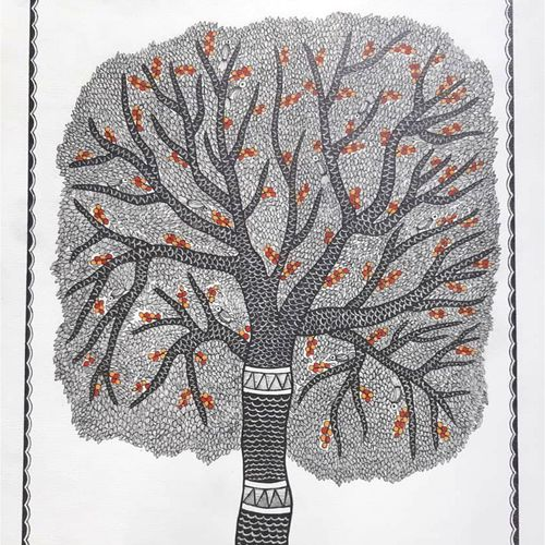 tree of life, 16 x 24 inch, unmesh  kale,16x24inch,paper,drawings,paintings for living room,pen color,GAL03069943076
