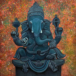 vighnaharta, 25 x 27 inch, akash bhisikar,25x27inch,canvas,paintings,abstract paintings,folk art paintings,modern art paintings,religious paintings,portrait paintings,abstract expressionism paintings,art deco paintings,expressionism paintings,illustration paintings,street art,ganesha paintings | lord ganesh paintings,contemporary paintings,realistic paintings,love paintings,elephant paintings,kerala murals painting,paintings for dining room,paintings for living room,paintings for bedroom,paintings for office,paintings for kids room,paintings for hotel,paintings for school,acrylic color,oil color,GAL01828643078