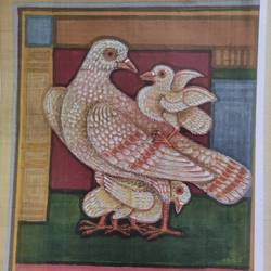 bird series 1, 10 x 12 inch, lalat mohan patanaik,10x12inch,cloth,paintings,paintings for living room,watercolor,GAL03071343086