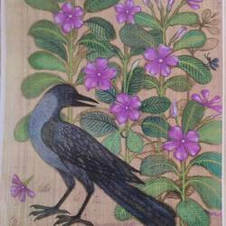 bird series, 10 x 13 inch, lalat mohan patanaik,10x13inch,cloth,paintings,paintings for living room,watercolor,GAL03071343089