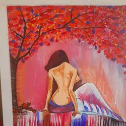 female nude , 11 x 14 inch, chitra chandane,11x14inch,canvas,abstract paintings,paintings for dining room,paintings for living room,paintings for bedroom,paintings for office,paintings for bathroom,paintings for hotel,paintings for dining room,paintings for living room,paintings for bedroom,paintings for office,paintings for bathroom,paintings for hotel,acrylic color,GAL03034343109