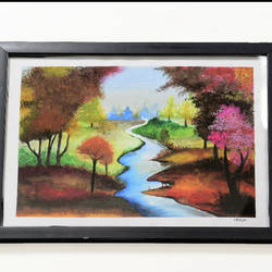 poster painting senary with glass frame , 14 x 12 inch, lavanya gottumukala,14x12inch,thick paper,landscape paintings,still life paintings,nature paintings | scenery paintings,realistic paintings,paintings for dining room,paintings for living room,paintings for bedroom,paintings for office,paintings for kids room,paintings for hotel,paintings for school,paintings for hospital,paintings for dining room,paintings for living room,paintings for bedroom,paintings for office,paintings for kids room,paintings for hotel,paintings for school,paintings for hospital,poster color,glass,wood,paper,GAL03075243119