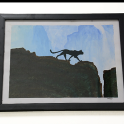 watercolour painting with glass frame , 12 x 14 inch, lavanya gottumukala,12x14inch,thick paper,paintings,wildlife paintings,landscape paintings,conceptual paintings,animal paintings,realistic paintings,paintings for dining room,paintings for living room,paintings for bedroom,paintings for office,paintings for kids room,paintings for hotel,paintings for kitchen,paintings for school,paintings for hospital,watercolor,glass,wood,paper,GAL03075243139