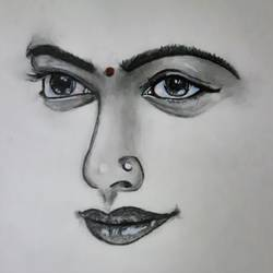 eyes, 11 x 16 inch, kamakshi kannan,11x16inch,thick paper,drawings,figurative drawings,paintings for bedroom,charcoal,paper,GAL02860643215