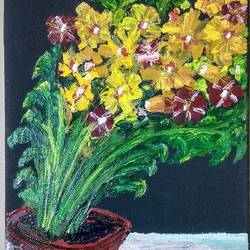 flower pot, 8 x 10 inch, tushar  amonkar,8x10inch,canvas,flower paintings,paintings for dining room,paintings for living room,paintings for office,paintings for hotel,paintings for school,paintings for hospital,paintings for dining room,paintings for living room,paintings for office,paintings for hotel,paintings for school,paintings for hospital,oil color,GAL03080143227