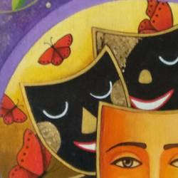 happy faces, 18 x 18 inch, anjali  surana,18x18inch,canvas,paintings,figurative paintings,paintings for dining room,paintings for living room,paintings for bedroom,paintings for office,paintings for bathroom,paintings for kids room,paintings for hotel,paintings for kitchen,paintings for school,paintings for hospital,acrylic color,GAL03088143238