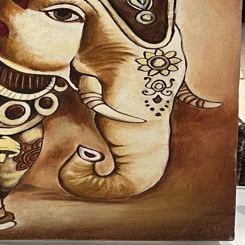 ornate elephant, 24 x 20 inch, smita agarwal,24x20inch,canvas,paintings,figurative paintings,paintings for living room,oil color,GAL01908243280