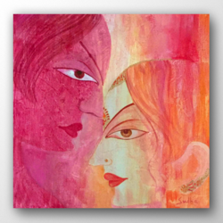 love, 16 x 16 inch, sudha b.,16x16inch,canvas,paintings,figurative paintings,love paintings,paintings for dining room,paintings for living room,paintings for bedroom,paintings for office,paintings for hotel,paintings for hospital,acrylic color,GAL03090243304