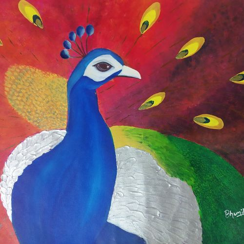 artofpeacock 1, 24 x 18 inch, bhumika kumawat,24x18inch,canvas,paintings,abstract paintings,figurative paintings,folk art paintings,landscape paintings,modern art paintings,conceptual paintings,religious paintings,still life paintings,nature paintings | scenery paintings,abstract expressionism paintings,art deco paintings,expressionism paintings,illustration paintings,impressionist paintings,pop art paintings,realism paintings,street art,animal paintings,contemporary paintings,realistic paintings,love paintings,paintings for dining room,paintings for living room,paintings for bedroom,paintings for office,paintings for bathroom,paintings for kids room,paintings for hotel,paintings for kitchen,paintings for school,paintings for hospital,acrylic color,mixed media,GAL02800143306