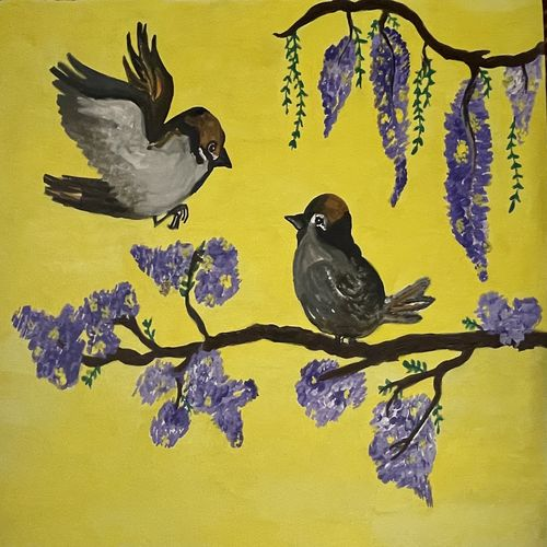 return of soulmate, 24 x 18 inch, anushua saha,24x18inch,canvas,paintings,wildlife paintings,paintings for dining room,paintings for living room,paintings for bedroom,paintings for office,paintings for bathroom,paintings for kids room,paintings for hotel,paintings for kitchen,paintings for school,paintings for hospital,acrylic color,GAL03061543324
