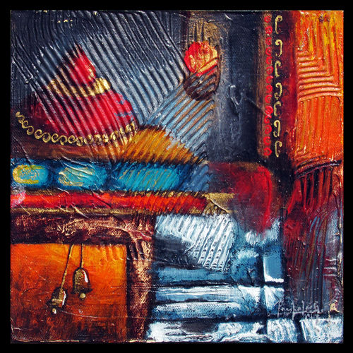 spiritual revelation - s3, 8 x 8 inch, prashalee gaikwad,abstract paintings,paintings for living room,canvas,acrylic color,8x8inch,GAL012144336