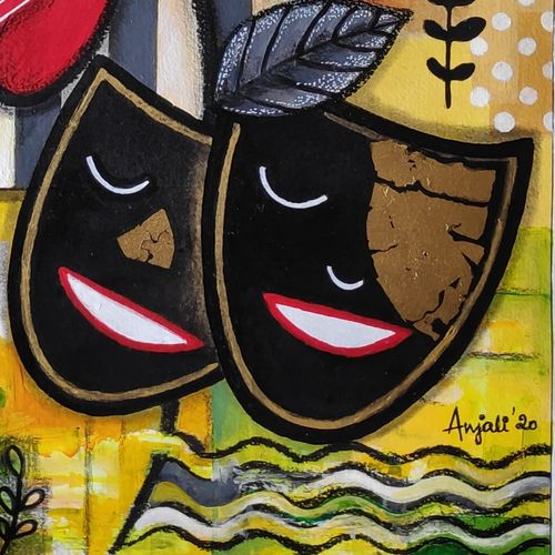 ode to home, 12 x 17 inch, anjali  surana,12x17inch,thick paper,paintings,flower paintings,contemporary paintings,paintings for dining room,paintings for living room,paintings for bedroom,paintings for office,paintings for bathroom,paintings for kids room,paintings for hotel,paintings for kitchen,paintings for school,paintings for hospital,acrylic color,charcoal,paper,GAL03088143462