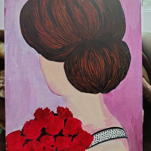 lady, 8 x 10 inch, namrata verma,8x10inch,thick paper,paintings,paintings for living room,paintings for bedroom,paintings for hotel,acrylic color,GAL03102243465