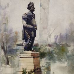 black man of eden garden kolkata, 22 x 30 inch, krishna  mondal ,22x30inch,handmade paper,paintings,figurative paintings,cityscape paintings,impressionist paintings,paintings for dining room,paintings for living room,paintings for bedroom,paintings for office,paintings for bathroom,paintings for kids room,paintings for hotel,paintings for kitchen,paintings for school,paintings for hospital,watercolor,GAL03095443498