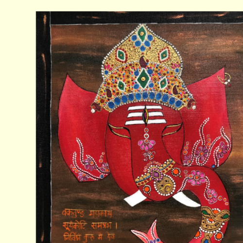 lord ganesha for positive vibes, 16 x 20 inch, shivani tapdiya,16x20inch,canvas,paintings,religious paintings,ganesha paintings | lord ganesh paintings,paintings for dining room,paintings for living room,paintings for office,paintings for hotel,paintings for hospital,paintings for dining room,paintings for living room,paintings for office,paintings for hotel,paintings for hospital,acrylic color,GAL02892043519