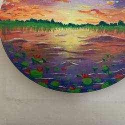 ray of hope ! , 10 x 10 inch, ganga  v menon ,10x10inch,canvas,paintings,landscape paintings,acrylic color,GAL03108743520