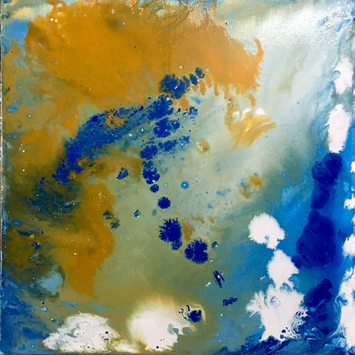 wondering sky, 24 x 24 inch, ayushi negi,abstract paintings,paintings for living room,canvas,acrylic color,24x24inch,GAL014904353