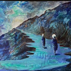 ode to salvation, 36 x 24 inch, priyanka dutt,36x24inch,canvas,paintings,figurative paintings,paintings for living room,paintings for office,paintings for hotel,paintings for school,paintings for hospital,acrylic color,GAL087943537