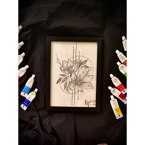 a pencil drawing of  flowers, 9 x 7 inch, ganga  v menon ,9x7inch,thick paper,paintings,abstract paintings,wildlife paintings,figurative paintings,flower paintings,cityscape paintings,modern art paintings,multi piece paintings,conceptual paintings,nature paintings   scenery paintings,abstract expressionism paintings,art deco paintings,cubism paintings,impressionist paintings,warli paintings,lord shiva paintings,paintings for dining room,paintings for living room,paintings for bedroom,paintings for office,paintings for bathroom,paintings for kids room,paintings for hotel,paintings for kitchen,paintings for school,paintings for hospital,acrylic color,ceramic,charcoal,enamel color,fabric,ink color,instant batik,mixed media,oil color,pastel color,pencil color,photo ink,poster color,watercolor,ball point pen,graphite pencil,coffee,sand,GAL03108743542