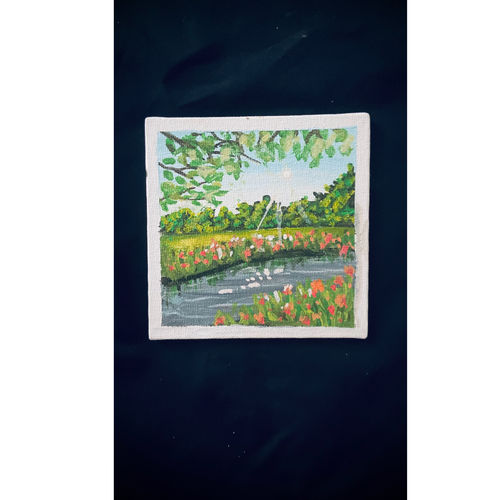 a acrylic painting of  a scenery, 10 x 12 inch, ganga  v menon ,10x12inch,fabriano sheet,paintings,abstract paintings,buddha paintings,wildlife paintings,figurative paintings,flower paintings,folk art paintings,foil paintings,cityscape paintings,landscape paintings,modern art paintings,multi piece paintings,conceptual paintings,religious paintings,still life paintings,portrait paintings,nature paintings | scenery paintings,abstract expressionism paintings,art deco paintings,cubism paintings,acrylic color,charcoal,fabric,oil color,photo ink,watercolor,GAL03108743545