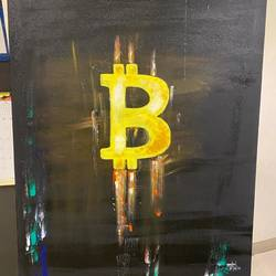 love for bitcoin , 24 x 36 inch, anchal sharma,24x36inch,canvas,drawings,abstract drawings,abstract expressionism drawings,conceptual drawings,modern drawings,paintings for living room,paintings for office,paintings for hotel,acrylic color,GAL02841543564