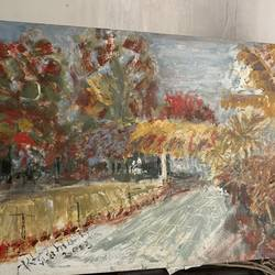 river side , 18 x 24 inch, mehool bhuva,18x24inch,canvas,paintings,nature paintings | scenery paintings,oil color,GAL03118443645