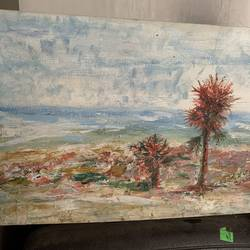 sea side , 18 x 24 inch, mehool bhuva,18x24inch,canvas,paintings,nature paintings | scenery paintings,oil color,GAL03118443646
