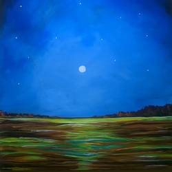 night, 24 x 30 inch, baljeet  panaich,landscape paintings,paintings for living room,canvas,acrylic color,24x30inch,GAL06084365