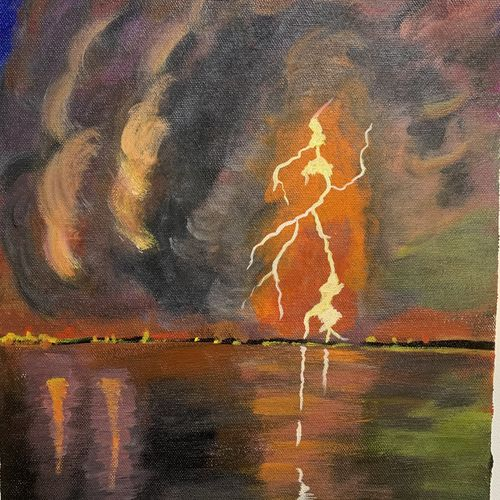 nature's fury, 13 x 16 inch, madhu tiwary,13x16inch,canvas,paintings,nature paintings | scenery paintings,paintings for dining room,paintings for living room,paintings for bedroom,paintings for office,paintings for school,acrylic color,GAL03109743663
