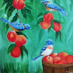 bird and nature painting, 8 x 10 inch, neha  gangal,8x10inch,thick paper,landscape paintings,acrylic color,GAL01408643668
