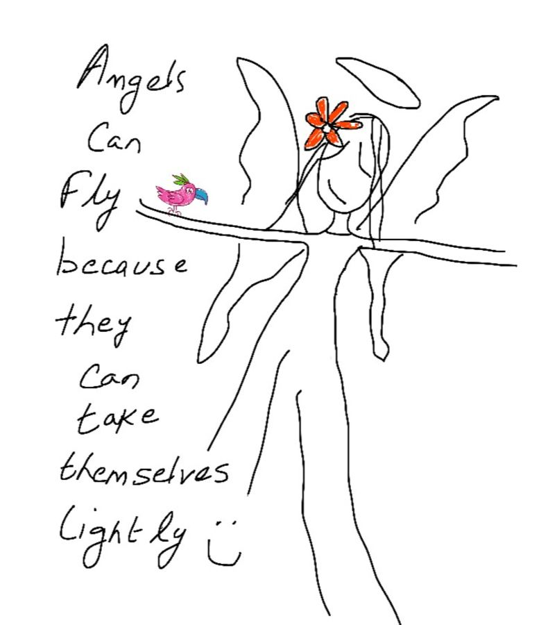 angels, 9 x 11 inch, baljeet  panaich,illustration drawings,paintings for bedroom,thick paper,ink color,9x11inch,GAL06084367