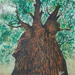 tree near my home, 12 x 15 inch, preeti kadu,12x15inch,canvas,paintings,flower paintings,landscape paintings,nature paintings   scenery paintings,paintings for dining room,paintings for living room,paintings for bedroom,paintings for office,paintings for bathroom,paintings for kids room,paintings for hotel,paintings for kitchen,paintings for school,paintings for hospital,acrylic color,GAL03077643710