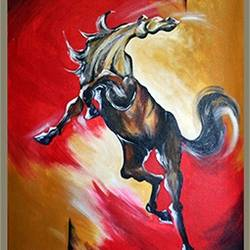 horse, 24 x 36 inch, sandip ghodke,abstract paintings,paintings for office,horse paintings,canvas,acrylic color,24x36inch,GAL015224372
