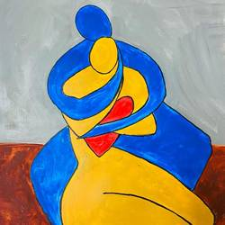 pure souls, 12 x 17 inch, ashwini kolkondi,12x17inch,thick paper,paintings,expressionism paintings,illustration paintings,acrylic color,GAL03119543725