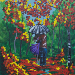 a walk in the rain, 14 x 18 inch, leepsa jena,cityscape paintings,paintings for living room,love paintings,canvas,acrylic color,14x18inch,GAL015314376heart,family,caring,happiness,forever,happy,trust,passion,romance,sweet,kiss,love,hugs,warm,fun,kisses,joy,friendship,marriage,chocolate,husband,wife,forever,caring,couple,sweetheart