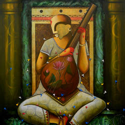 the mesmerizing tunes 11, 48 x 60 inch, anupam  pal,48x60inch,canvas,paintings,abstract paintings,buddha paintings,wildlife paintings,figurative paintings,flower paintings,folk art paintings,foil paintings,cityscape paintings,conceptual paintings,still life paintings,nature paintings | scenery paintings,abstract expressionism paintings,cubism paintings,illustration paintings,photorealism paintings,mother teresa paintings,elephant paintings,baby paintings,islamic calligraphy paintings,madhubani paintings | madhubani art,warli paintings,lord shiva paintings,kalighat painting,phad painting,miniature painting.,kerala murals painting,paintings for dining room,paintings for living room,paintings for bedroom,paintings for office,paintings for bathroom,paintings for kids room,paintings for hotel,paintings for kitchen,paintings for school,paintings for hospital,acrylic color,GAL08243788