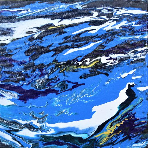 storm water  - abstract painting, 8 x 8 inch, abhijeet sapar,8x8inch,canvas,paintings,abstract paintings,paintings for dining room,paintings for living room,paintings for bedroom,paintings for office,paintings for kids room,paintings for hotel,paintings for kitchen,paintings for school,paintings for hospital,acrylic color,GAL03129243801