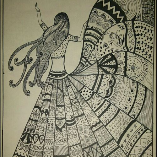 doodle art, 18 x 24 inch, yuvika gupta,18x24inch,drawing paper,drawings,abstract drawings,paintings for dining room,paintings for living room,paintings for hotel,pen color,GAL03120443817